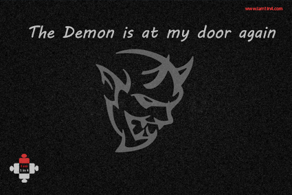 depression, the demon is at my door again