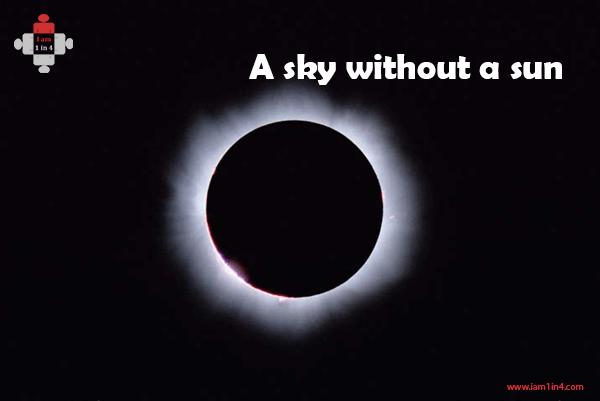 A sky without a sun