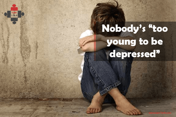 "Nobody's ""too young to be depressed"""