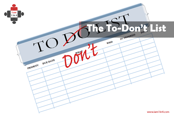 to-don't list