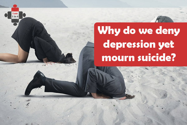 Why is suicide lamented so much while so little is done about depression? We mourn suicide, but let's speak out to prevent it too.