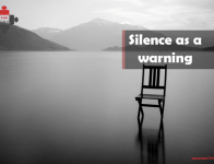 Silence as a warning